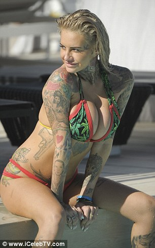 Looking good: Jemma looked full of body confidence in her skimpy swimwear