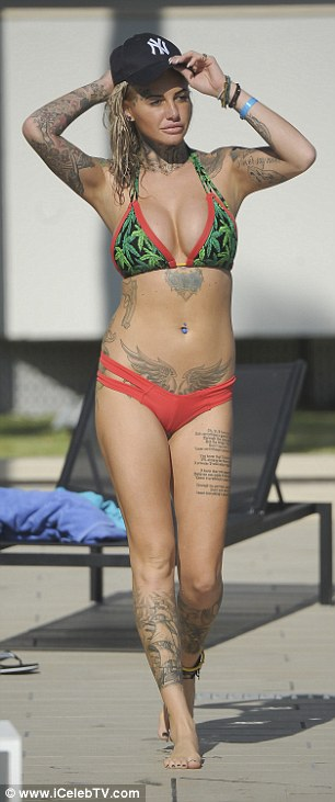 On her holidays: Jemma isn't afraid to show off her figure in skimpy ensembles