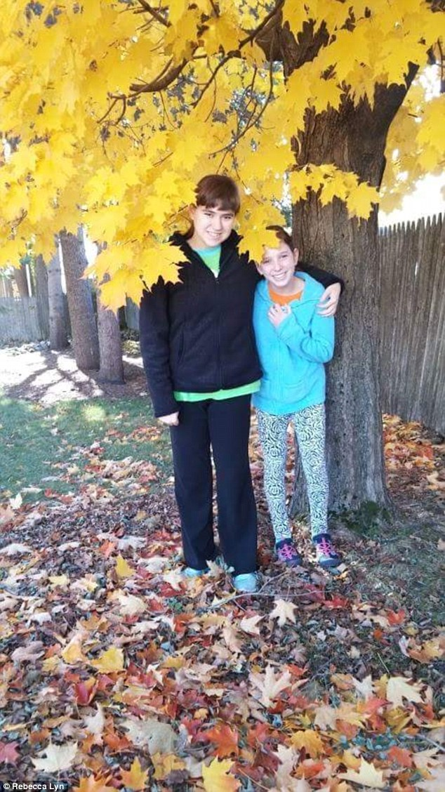 Hallee with her sister, enjoying fall. Hallee's cousin Ms Lyn did not expect her post to go viral