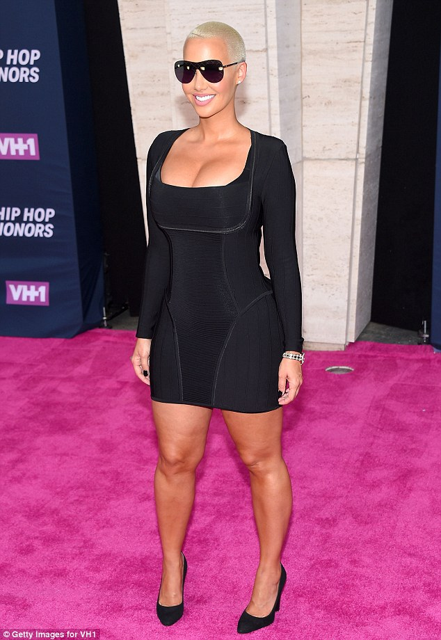 Curvaceous: The 32-year-old model strutted her stuff down the pink carpet in an LBD as she made her way to the event held in the legendary Hammerstein Ballroom