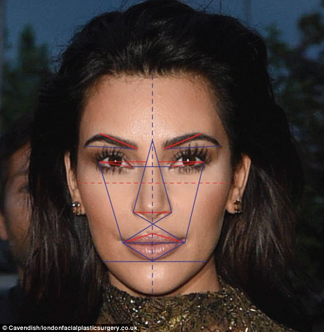 Kim Kardashian came in a close second as the world's most beautiful woman according to the Greek Golden Ratio of Beauty