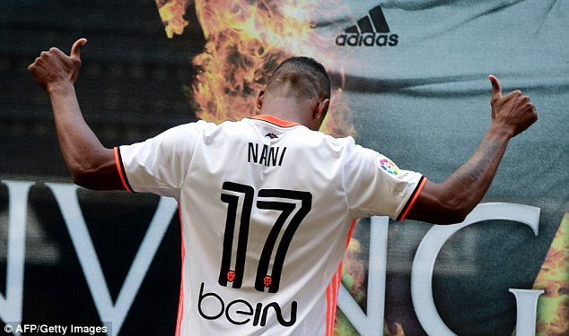 Nani got his favoured number 17 shirt at his new club - and thanked Rodrigo Moreno for giving it up