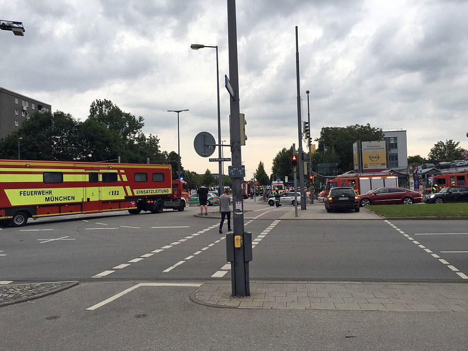 An official at the Munich Olympia Shopping Centre declined comment, saying only, 'We are experiencing a problem'