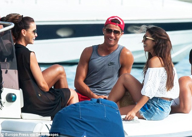 Ronaldo was in Ibiza last week as he continues to enjoy his time off following Euro 2016 in France
