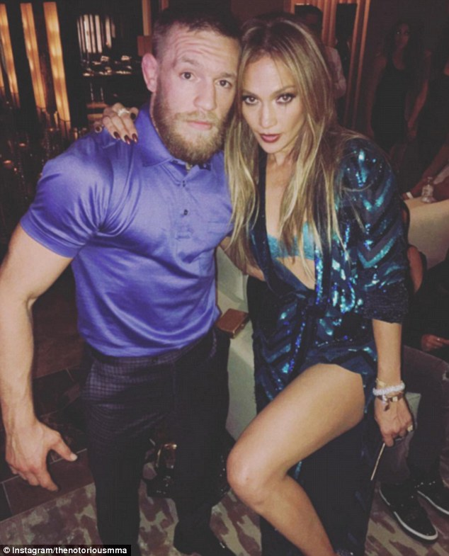 McGregor later shared an image posing with Jennifer Lopez and wished the pop star a Happy Birthday