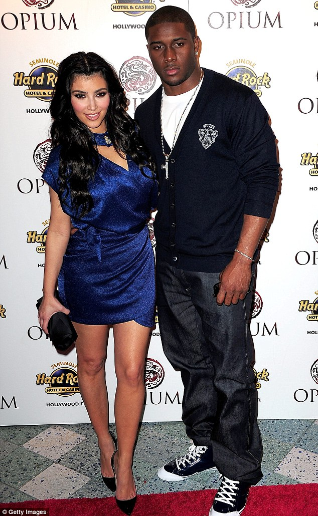 He's got a type: Reggie dated Kim off and on from 2007 to 2010, seen here in 2009