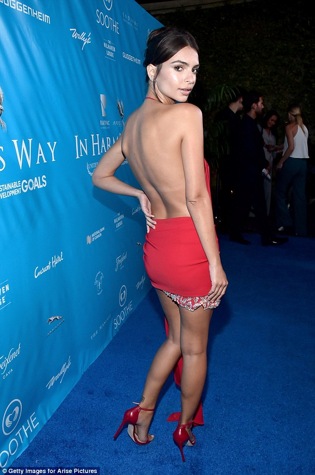 Va-va-voom: The 25-year-old isn't shy flaunting her incredible figure on the red carpet