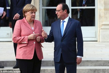 German Chancellor Angela Merkel (pictured left) and French President Francois Hollande (right) are travelling to the tiny Italian island of Ventotene today to discuss Europe's future