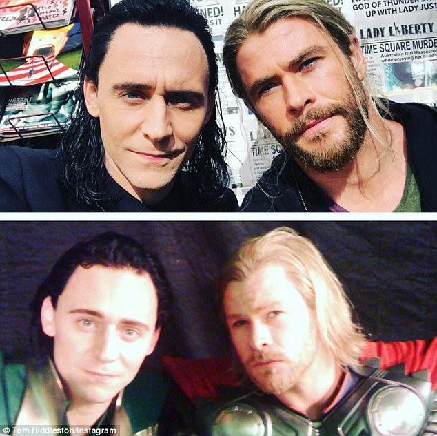 Tom Hiddleston Wallpaper Quote Chris Hemsworth And Tom Hiddleston Recreate Throwback