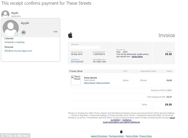 Apple email scam alert that scares victims into thinking someone - personal invoice