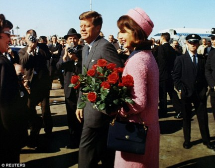Stone - whose JFK biopic was sympathetic to conspiracy theories -decided to reveal the agent's confession for the first time to author Matt Zoller Seitz (pictured, John F Kennedy with his wife Jackie)