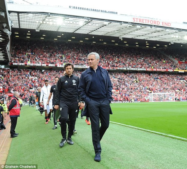 The Portuguese now prowls the Old Trafford touchline as Manchester United manager