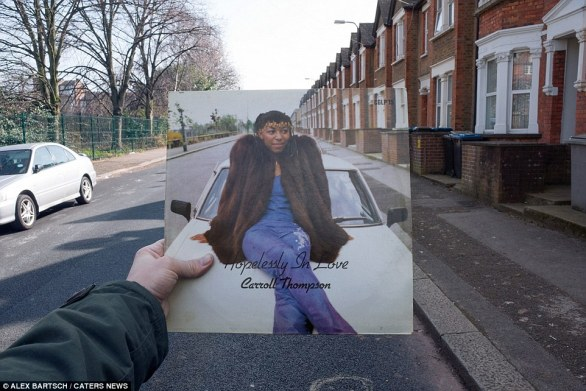 Hopelessly in Love by Carroll Thompson (1981): A Kickstarter campaign to publish the pictures in the book has been launched. Hertfordshire-born Thompson was known as one of the divas of the lovers rock era in the 1980s - and this album cover was taken on Milton Avenue in Harlesden, North West London