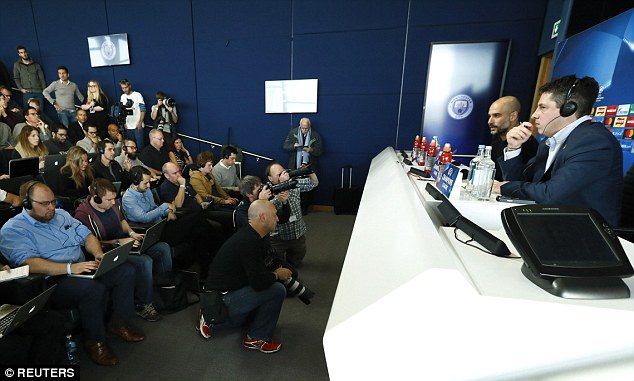 Pep Guardiola has been speaking to the press ahead of Manchester City's clash against Barcelona at the Etihad Stadium tomorrow evening