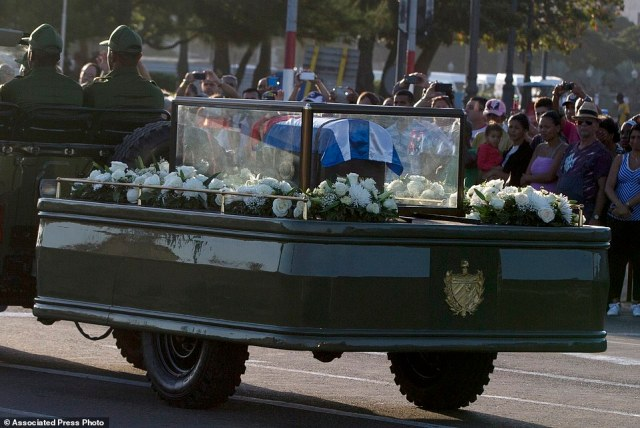 Castro's ashes have begun a four-day journey across Cuba from Havana to their final resting place in the eastern city of Santiago