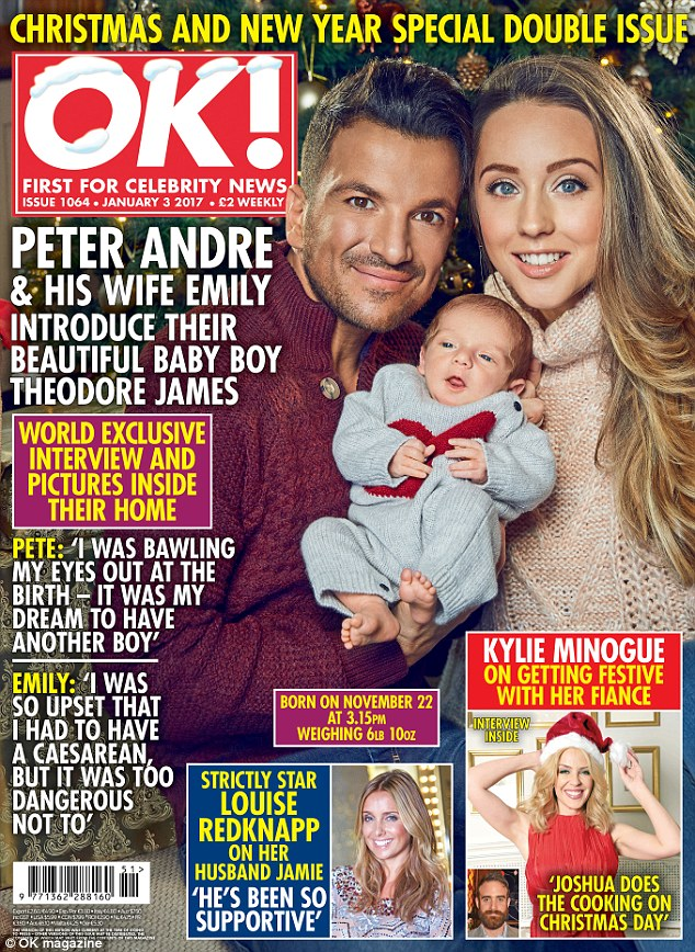 Peter Andre and wife Emily introduce their baby boy Theodore James