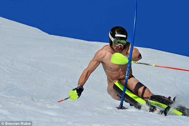 Brave Ski Racers Are Pictured Hurtling Down Snowy Slopes