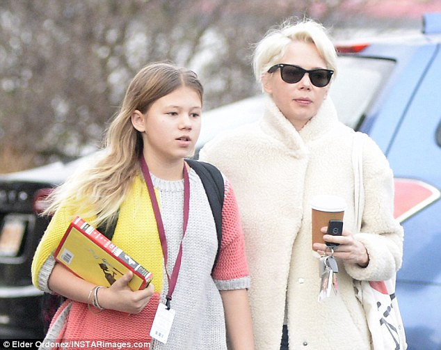 Michelle Williams Dons Faux Fur Coat On Nyc Stroll With