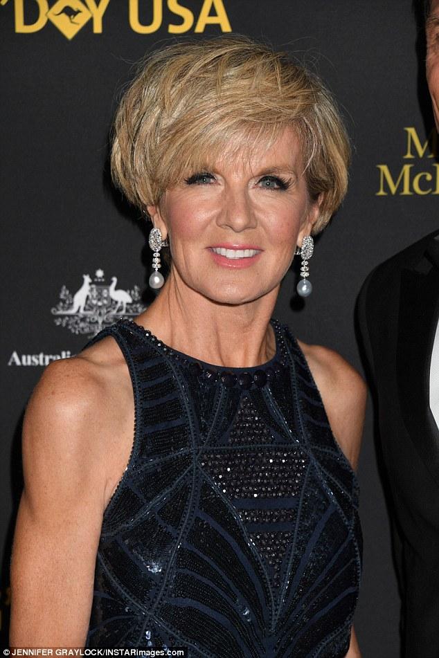 Politician julie bishop attends g day black tie gala