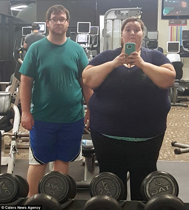 Obese couple shed half their body fat in just ONE YEAR Daily Mail