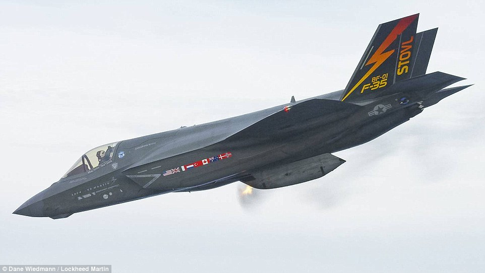 3d Wallpaper In Qatar F35b Finally Fires Its Guns In The Air Daily Mail Online