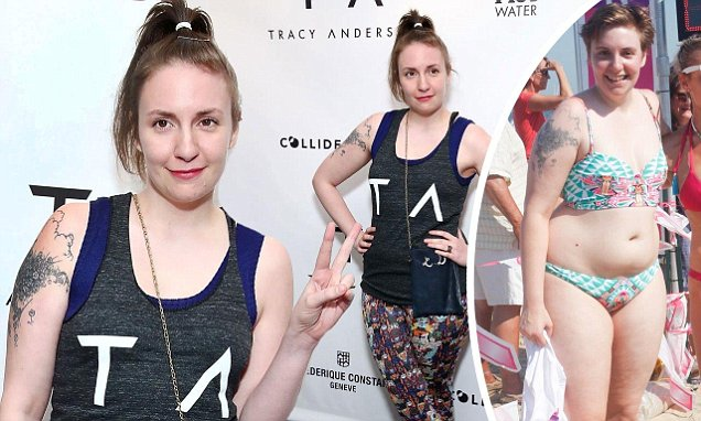 Half The Girl She Used To Be Lena Dunham Flaunts Her New