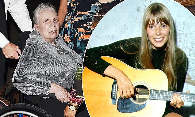 Joni Mitchell, 73, seen in wheelchair after brain aneurysm Daily
