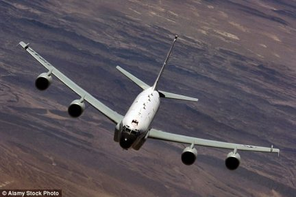 A top-secret British spy plane was tracked using a £2.99 mobile phone app as it flew on a daring mission to eavesdrop on Vladimir Putin's air defences (Stock photo)