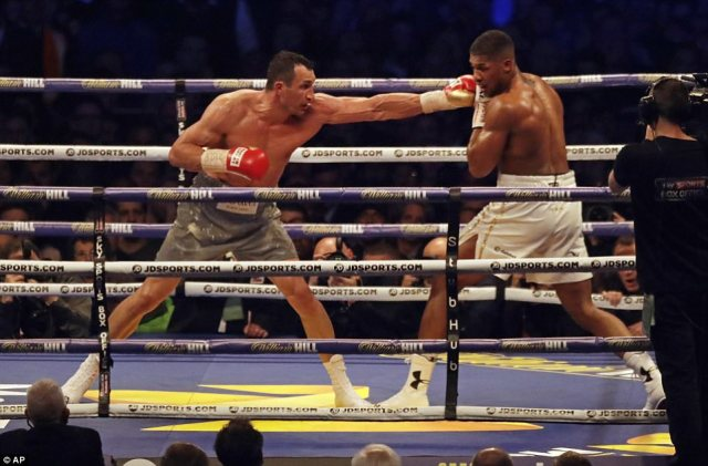 Anthony Joshua v Wladimir Klitschko IBF, IBO & WBA Super World Heavyweight Title's in front on 90,000 fans - a post-war record on British soil, topping the previous record between Supper Middleweights George Groves and Carl Froch at the same venue