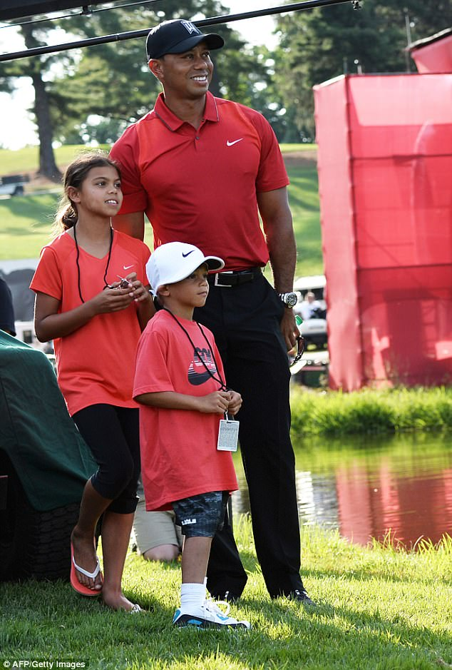 photos tiger woods children today