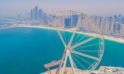 The Ain Dubai ferris wheel inches towards completion | Daily Mail Online