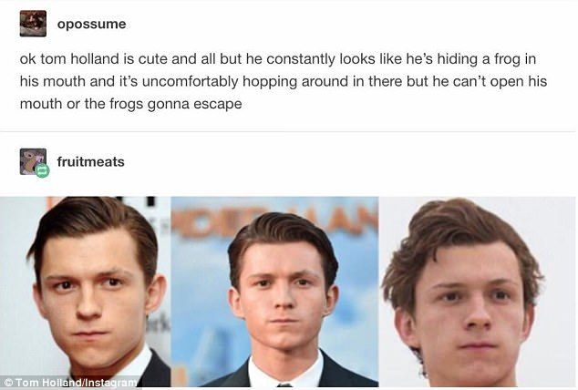 Stranger Things Wallpaper Cute Tom Holland Responds To Meme About Face On Instagram