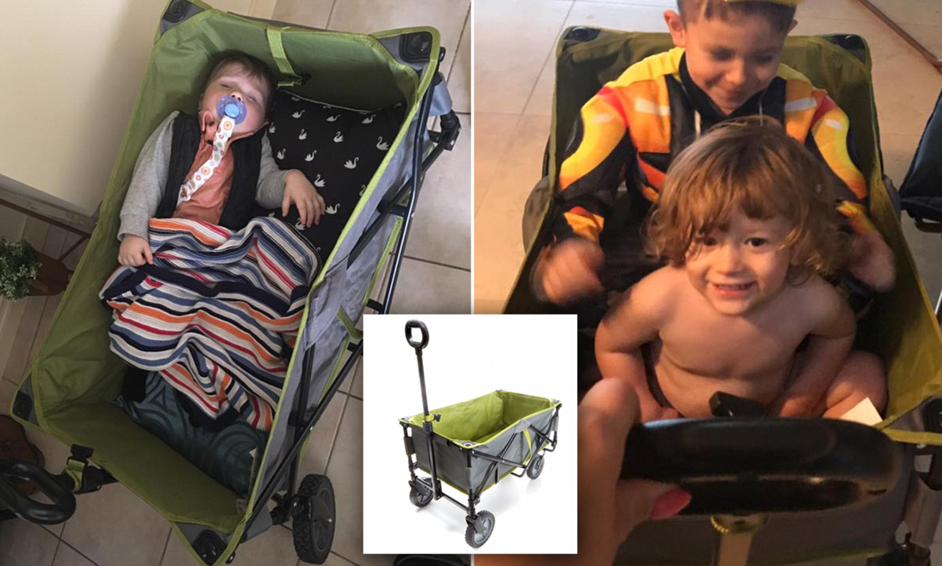 Infant Carrier Kmart Kmart 49 Beach Trolley Is A Huge Hit With Mums Daily Mail