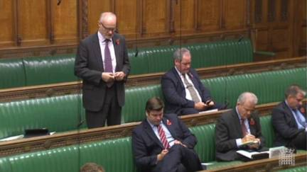 Former Conservative minister Crispin Blunt (pictured today in the Commons) went so far as to suggest Mr Burt should 'take her, very gently, in hand'