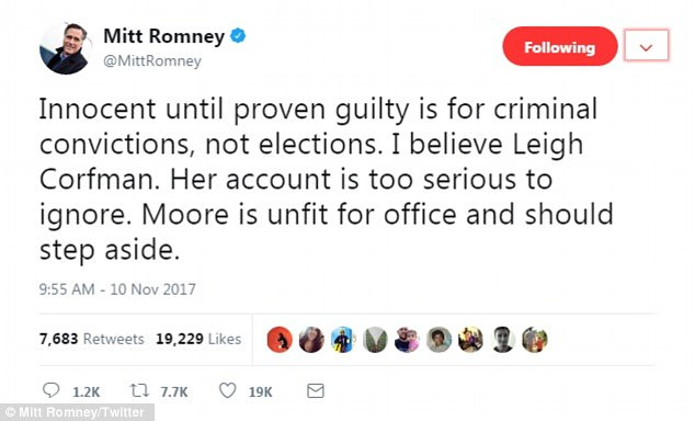 Romney comes out with strongest statement yet on Roy Moore Daily