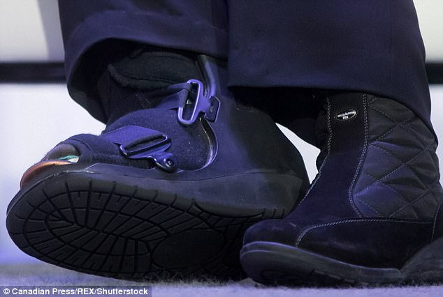 Hillary Clinton Wears Surgical Boot Months After Toe Break