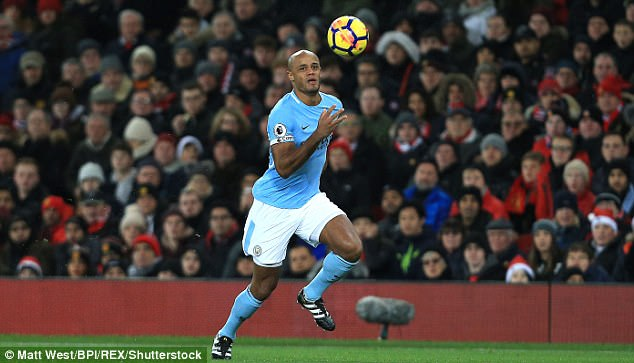 Vincent Kompany is still absent after he came off at half-time of last weekend's derby