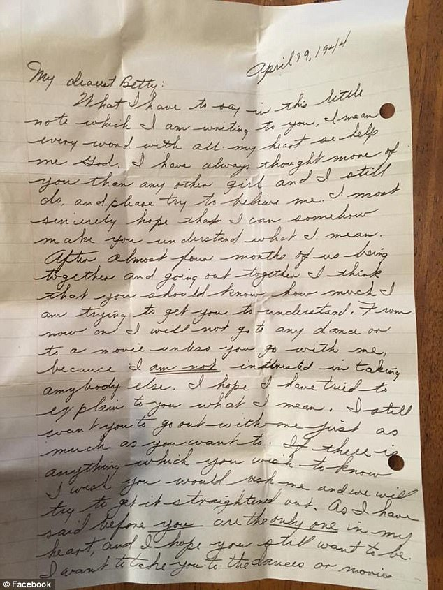 Man\u0027s 1944 love letter found within remodeled home\u0027s walls Daily - Love Letter