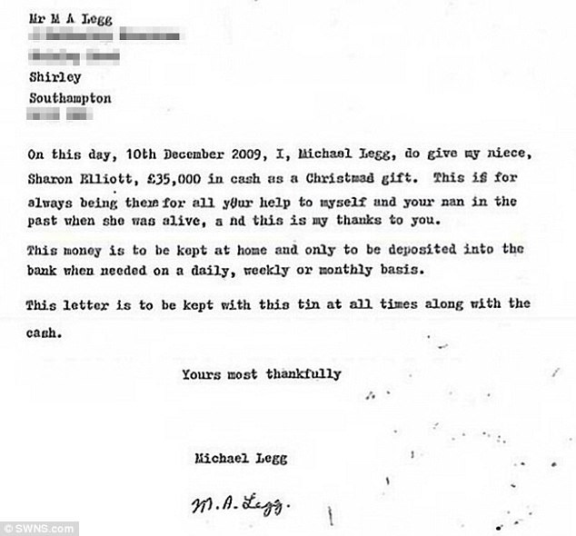 Mother, 48, faked \u0027cash gift\u0027 letter from her dead uncle Daily - gift letter