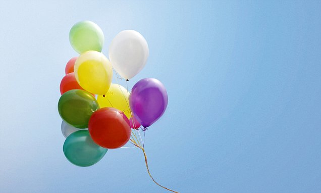 Private jet is almost brought down by a bundle of 20 party BALLOONS