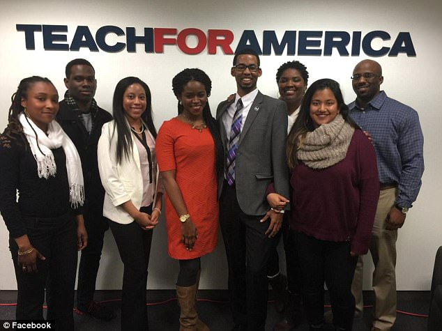 Haleybegan working with Teach For America, a nonprofit that helps 'strengthen the movement for educational equity and excellence' within low-income schools (other members pictured above on Facebook)