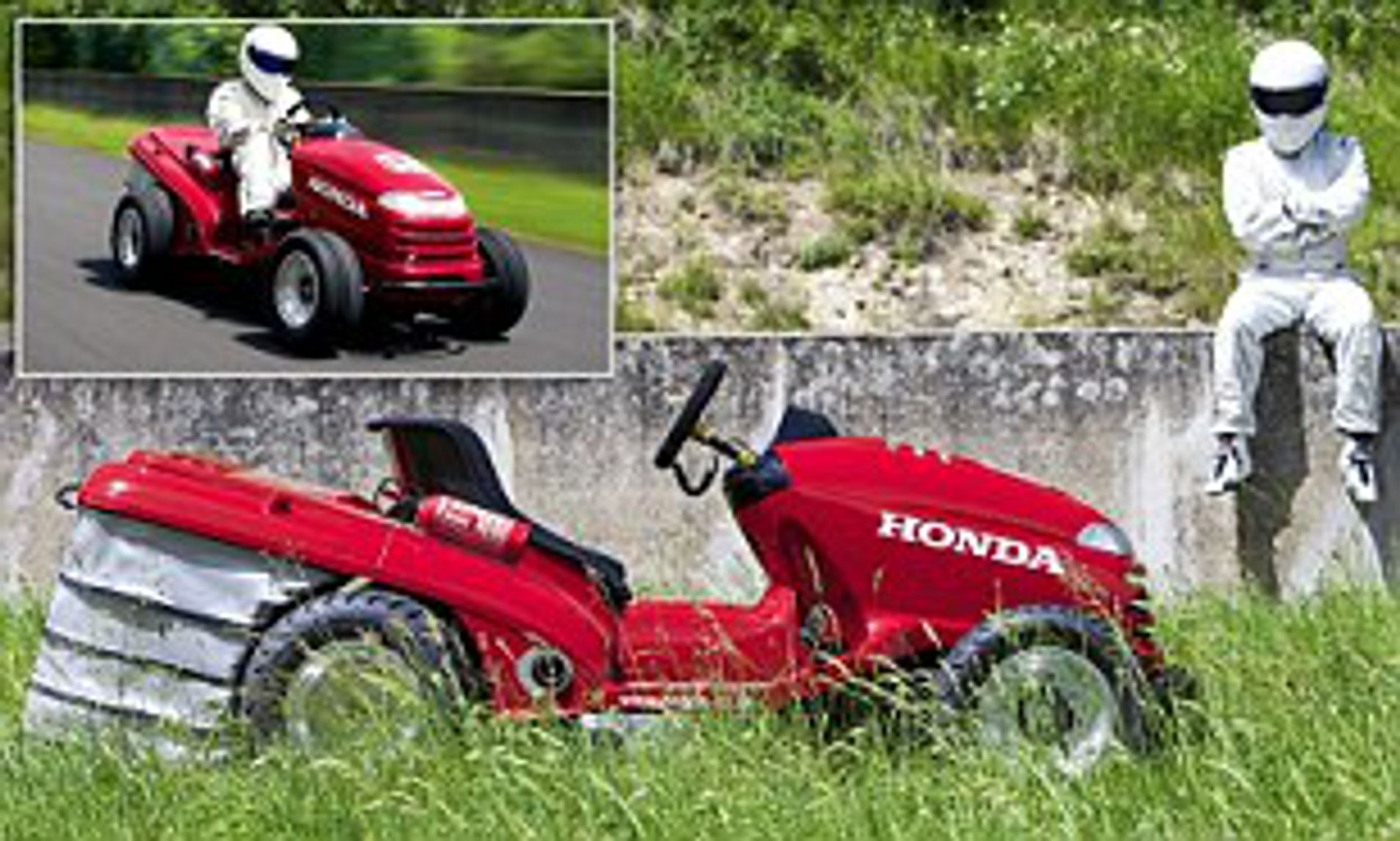 Fed Up With The Amount Of Time It Takes To Cut The Grass In Your Garden Maybe You Need One Of These 130mph Lawn Mowers Daily Mail Online - Morrisons Garden Furniture Clearance