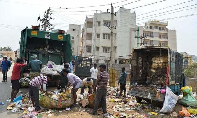 Image result for Bengaluru a garbage city chides, Modi