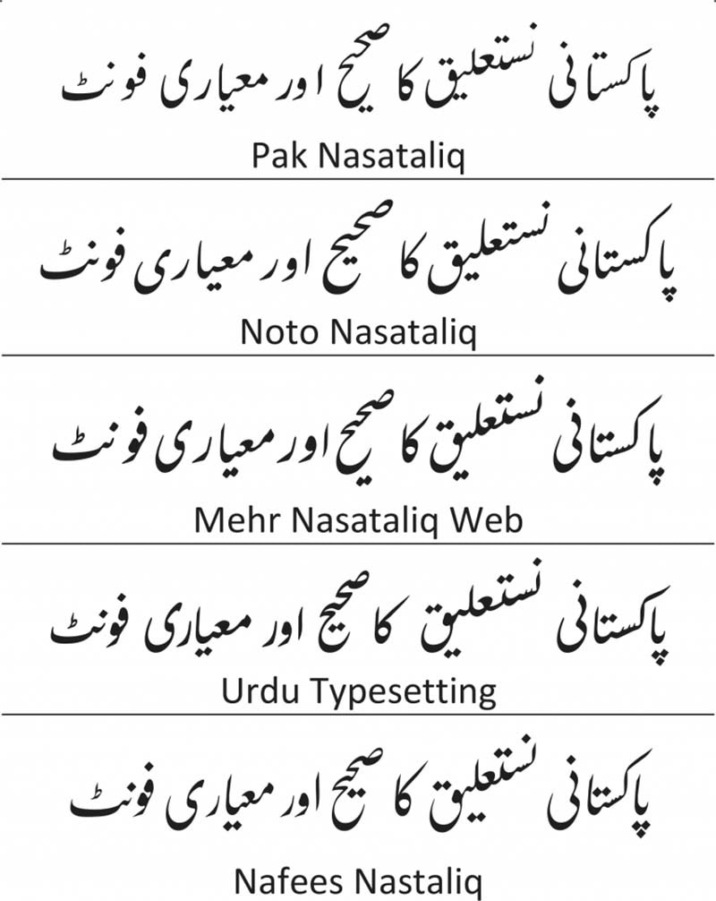 Japanese Calligraphy Font Generator Online Pakistani Researchers Develop A Calligraphy Based Urdu Font For