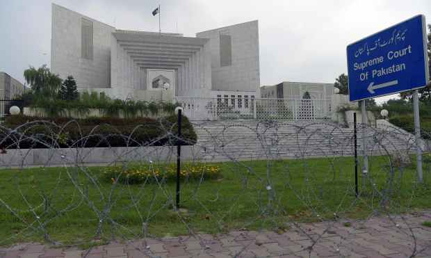 SC set to announce the judgement that could topple PM Nawaz Sharif. —AFP