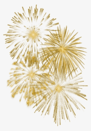 Download Free png Fireworks Clipart Golden Happy New Year Png