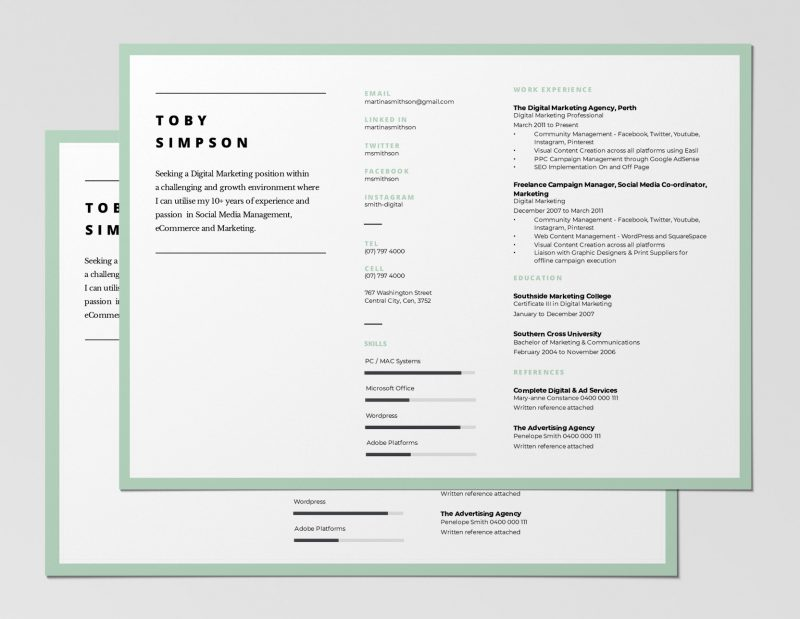 12 Best Free Resume Templates + Tips on how to stand out - Easil