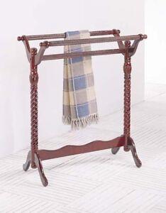 Wooden Large Quilt Rack Towel Rack Free Standing Cherry Ebay