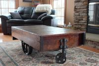 How to Build a Factory Cart Coffee Table | eBay