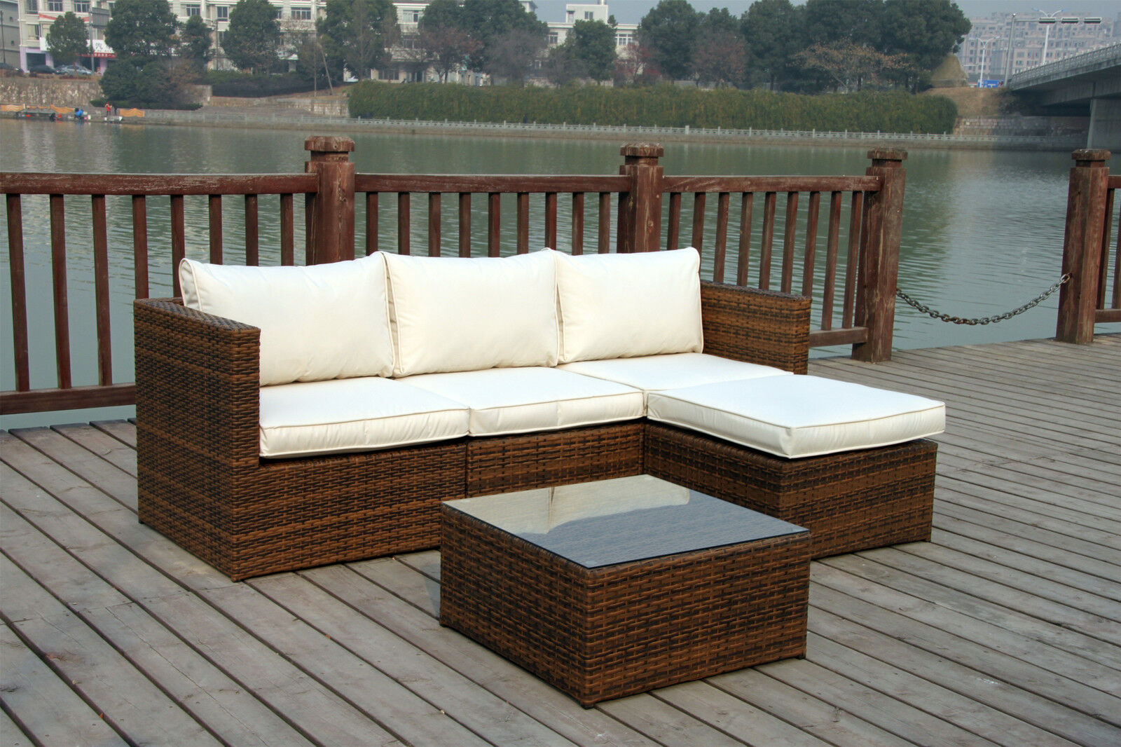 Rattan Corner Sofa Set Ebay New Rattan Garden Wicker Outdoor Conservatory Corner Sofa